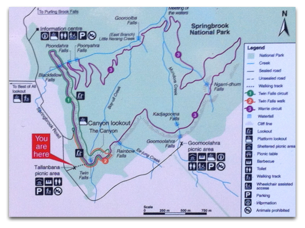 Warrie Circuit Trail Map